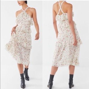 Urban Outfitters floral ruffle dress